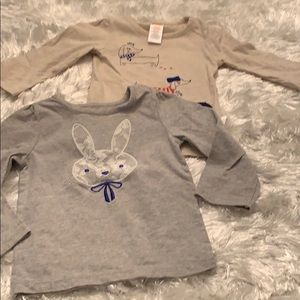 2 Gymboree Long Sleeves Shirt size 12-18